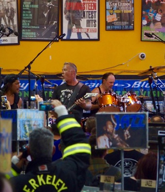 Metallica at Rasputin, recently